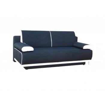 Canapé TINA bleu foncé + blanc